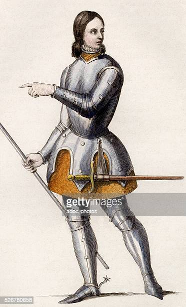 Joan of Arc or The Maid of Orl��ans French heroine of the Hundred Years' War Coloured engraving