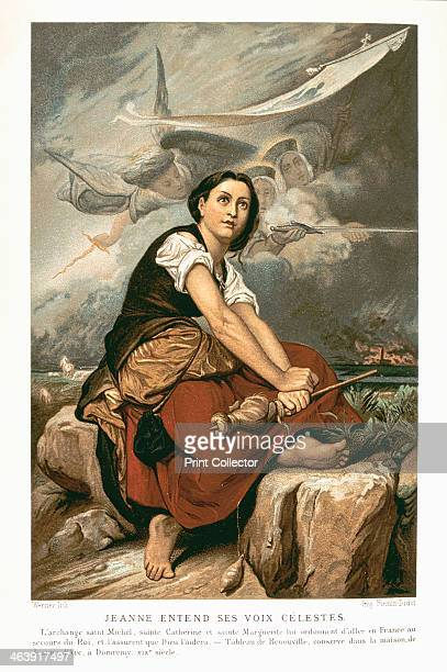 Joan of Arc the Maid of Orleans 15th century French patriot and martyr mid 19th century French patriot and martyr Joan minding the flocks and...