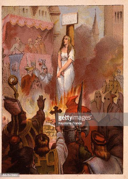 Joan of Arc was burned alive by the English and the Bishop Pierre Cauchon on May 30 1431 in Rouen France