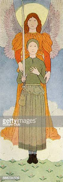 Joan of Arc with angel As a teenager Joan was reported to have heard voices of Saints Margaret the Virgin and Catherine of Alexandria and Archangel...