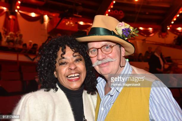 Joan Orleans and Wolfgang Prinz during Circus Krone celebrates premiere of 'Hommage' at Circus Krone on February 1 2018 in Munich Germany