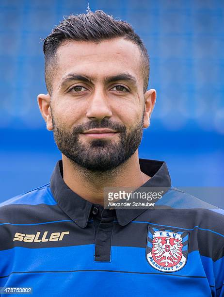 Joan Oumari poses during the official team presentation of FSV Frankfurt at Volksbank Stadion on June 27 2015 in Frankfurt am Main Germany