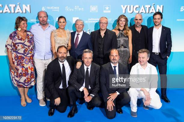 Joan Pera Toni Acosta Director Daniel Monzon Luis Tosar Stephanie Cayo and Rodrigo de la Serna attends to premiere of Yucatan at Kinepolis Cinema in...