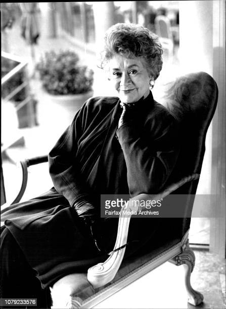 Joan Plowright Actor in Sydney todayMr Joan Plowright in Sydney on an enchanted May dayFor 28 years Joan Plowright played the role of a lifetime that...