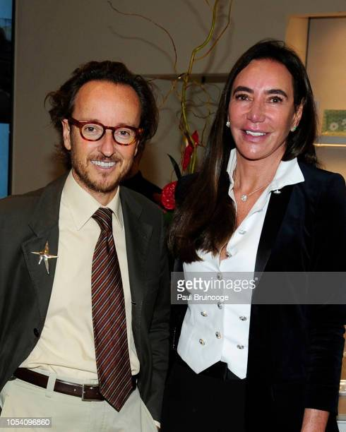 Joan Punyet Miró and Samira Leal attend Launch of 'Parler Seul' collection with Mr Michel Bernardaud and Mr Joan Punyet Miró at Bernardaud Flagship...