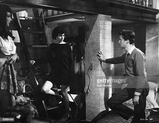 Joan Rice stars as Alma and Dirk Bogarde as Stephen Mundy in the film 'Blackmailed' . The film was directed by Marc Allegret for Rank. Original...