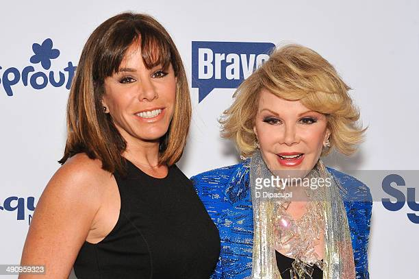 Joan Rivers and daughter Melissa Rivers attend the 2014 NBCUniversal Cable Entertainment Upfronts at The Jacob K Javits Convention Center on May 15...