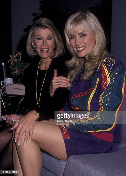 Joan Rivers and Dian Parkinson attend the taping of The Joan Rivers Show on November 8 1993 at CBS TV Studios in New York City