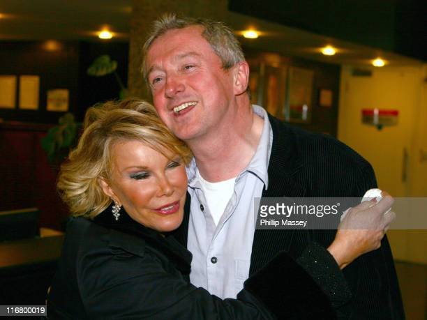 Joan Rivers and Louis Walsh during Joan Rivers and Louis Walsh on the 'Late Late Show' in Dublin March 9 2007 at RTE Studios in Dublin Ireland