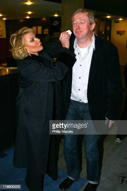 "Joan Rivers and Louis Walsh during Joan Rivers and Louis Walsh on the ""Late, Late Show"" in Dublin - March 9, 2007 at RTE Studios in Dublin, Ireland."