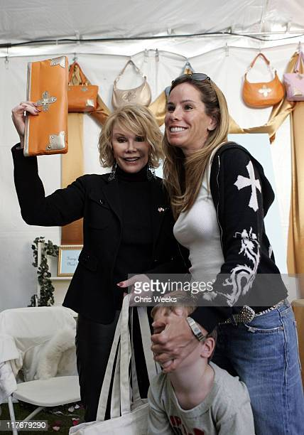 Joan Rivers and Melissa Rivers at Tracy Zych during Silver Spoon PreGolden Globe Hollywood Buffet Day 2 at Private Residence in Los Angeles...