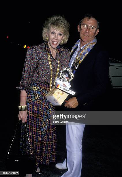 Joan Rivers and Roddy McDowall during Joan Rivers and Roddy McDowall Sighting at Spago June 5 1987 at Spago in West Hollywood California United States