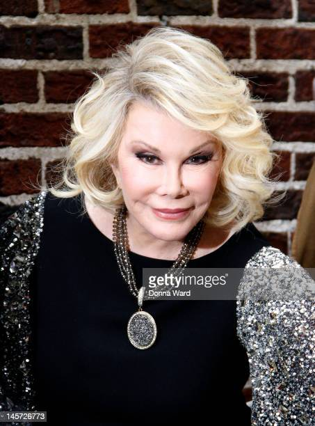 Joan Rivers arrives for The Late Show with David Letterman at Ed Sullivan Theater on June 4 2012 in New York City