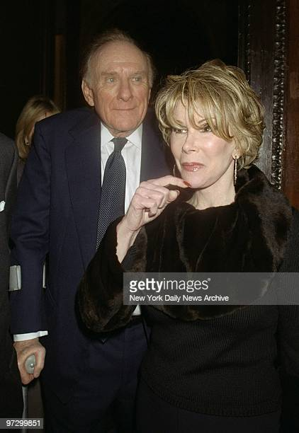 Joan Rivers arrives with date Orin Lehman at Le Cirque for a postscreening party for the movie Two Family House