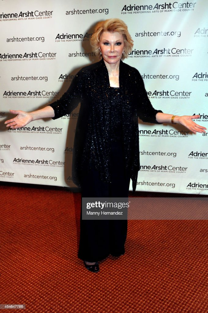 Joan Rivers at the Adrienne Arsht Center of the Performing Arts on September 4, 2014 in Miami, Florida.