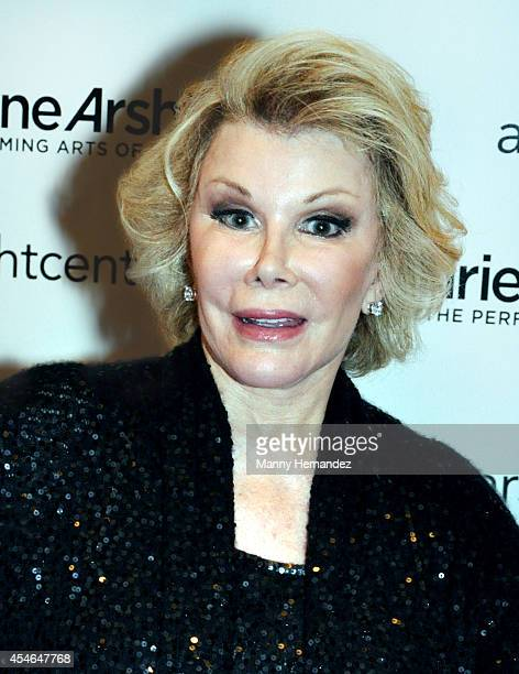 Joan Rivers at the Adrienne Arsht Center of the Performing Arts on September 4 2014 in Miami Florida