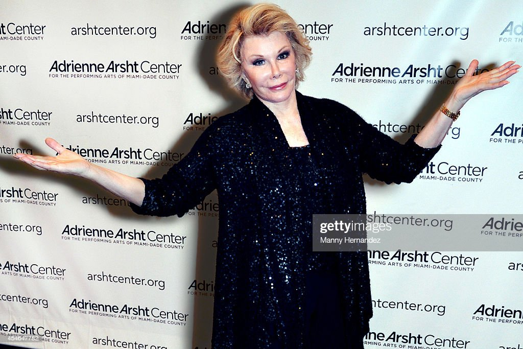 Joan Rivers at the Adrienne Arsht Center of the Performing Arts on December 12, 2009 in Miami, Florida.