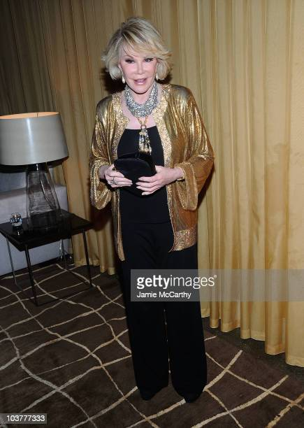 Joan Rivers attends the opening night of 'It Must Be Him' at 48 Lounge on September 1 2010 in New York City