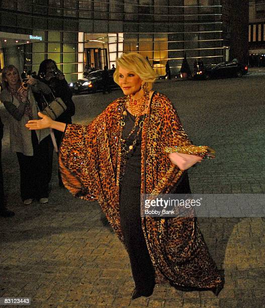 Joan Rivers attends the wedding of Howard Stern and Beth Ostrosky at Le Cirque on October 3 2008 in New York City