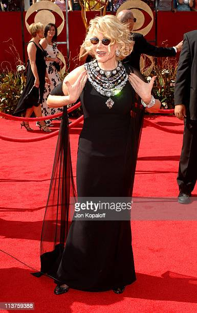 Joan Rivers during 57th Annual Primetime Emmy Awards - Arrivals at The Shrine in Los Angeles, California, United States.