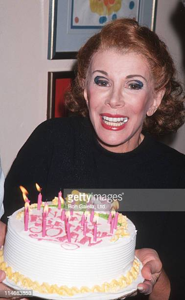 Joan Rivers during Birthday Party for Joan Rivers Sally Marr and Her Escorts Cast Party June 8 1994 at Helen Hayes Theater in New York City New York...