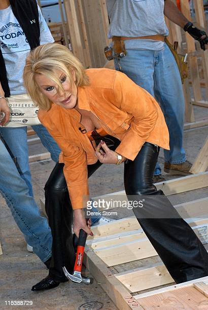 Joan Rivers during Habitat for Humanity on the Today Show September 28 2005 at Today Show Studios in New York City New York United States
