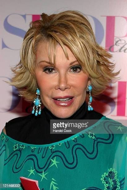 Joan Rivers during Hearst Magazine Launches New One Stop Shopping Magazine 'SHOP Etc' at Milk Studios in New York New York United States