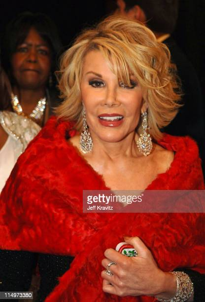 Joan Rivers during The 39th Annual CMA Awards - Red Carpet at Madison Square Garden in New York City, New York, United States.