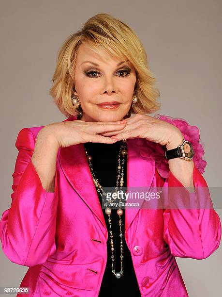 Joan Rivers from the film 'Joan Rivers A Piece of Work' attends the Tribeca Film Festival 2010 portrait studio at the FilmMaker Industry Press Center...