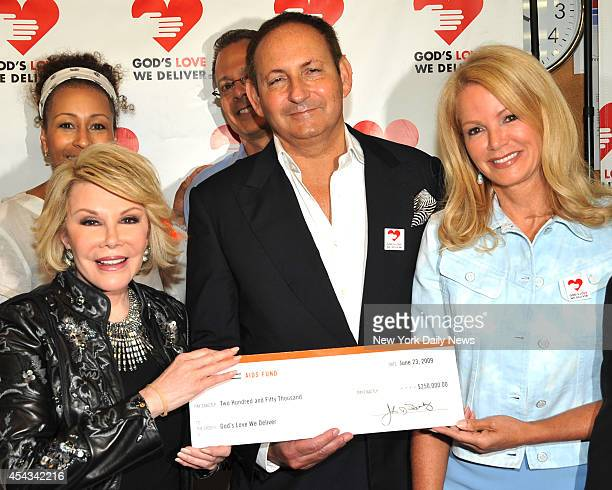 Joan Rivers John Demsey and Blaine Trump at the 10 millionth meal celebration at God's Love We deliver Ave of America's and Spring St Joan Rivers had...
