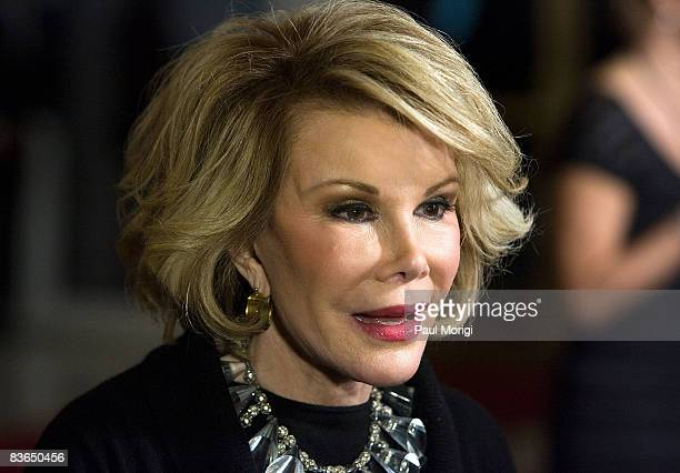 Joan Rivers on the red carpet at the 11th Annual Kennedy Center Mark Twain Prize for American Humor Award to George Carlin at the John F Kennedy...