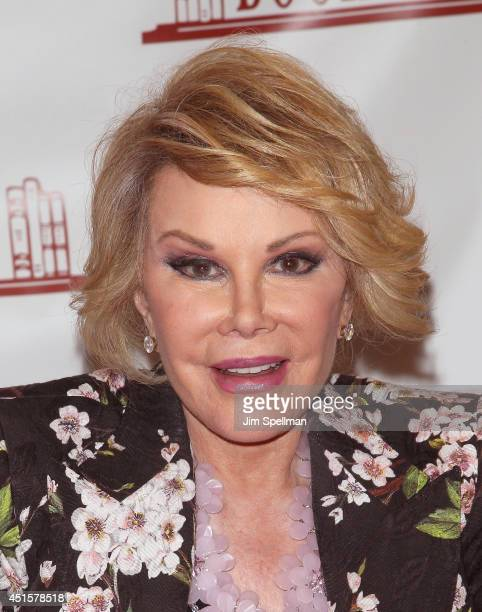 """Joan Rivers promotes """"Diary Of A Mad Diva"""" at Bookends Bookstore on July 1, 2014 in Ridgewood, New Jersey."""