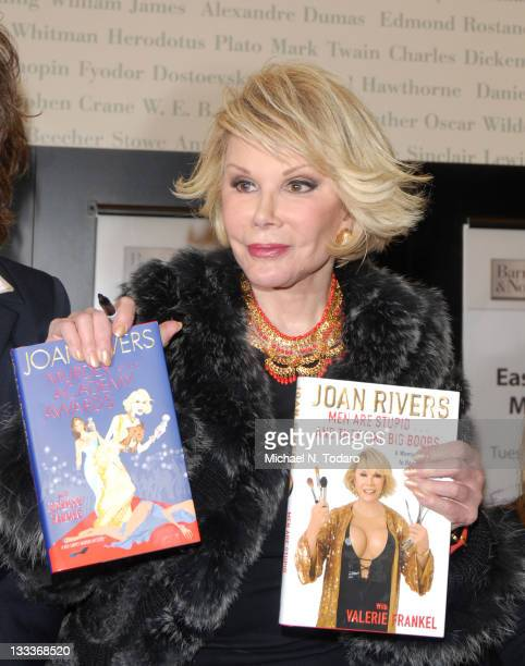 Joan Rivers promotes her new books 'Murder at the Academy Awards A Red Carpet Murder Mystery' and 'Men Are StupidAnd They Like Big Boobs A Woman's...