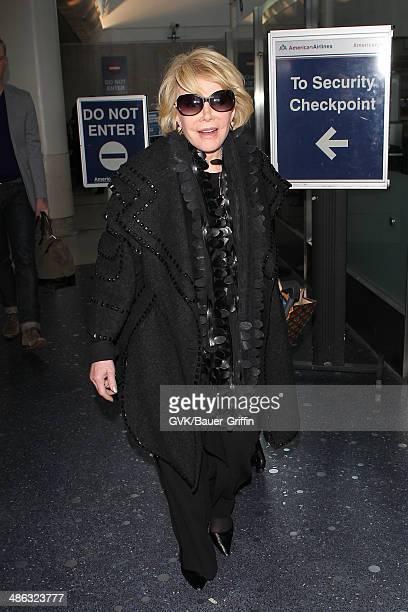 Joan Rivers seen at Los Angeles International on April 23 2014 in Los Angeles California