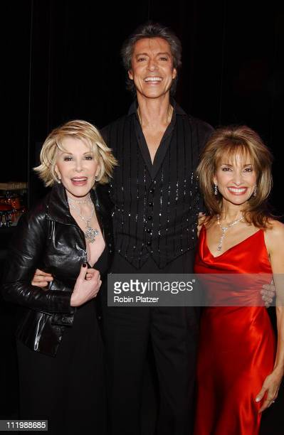 Joan Rivers Tommy Tune and Susan Lucci during Opening night of Tommy Tune White Ties And Tails at Little Shubert Theater in New York NY United States