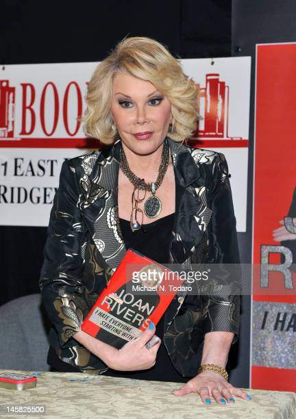 Joan Rivers visits at Bookends Bookstore on June 6, 2012 in Ridgewood, New Jersey.