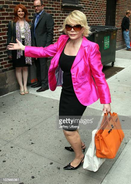 Joan Rivers visits Late Show With David Letterman at the Ed Sullivan Theater on July 19 2010 in New York City