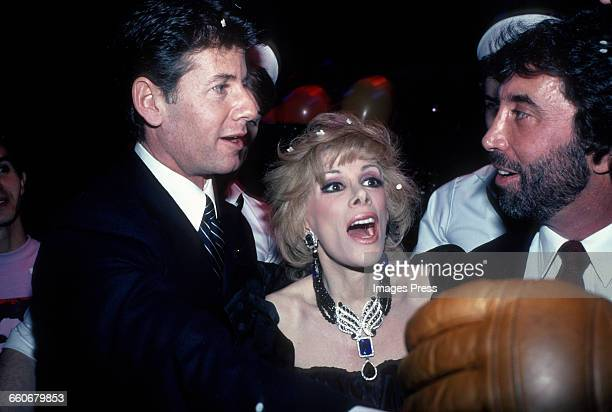 Joan Rivers with Calvin Klein circa 1983 in New York City