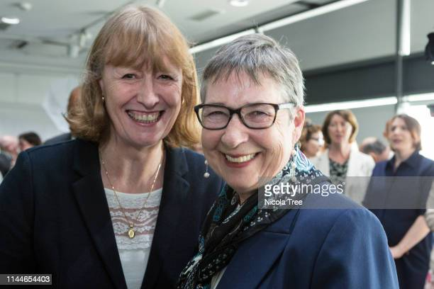 Joan Ryan and Ann Coffey at the launch of Change UK The Independent group's European election campaign at We The Curious on April 23 2019 in Bristol...