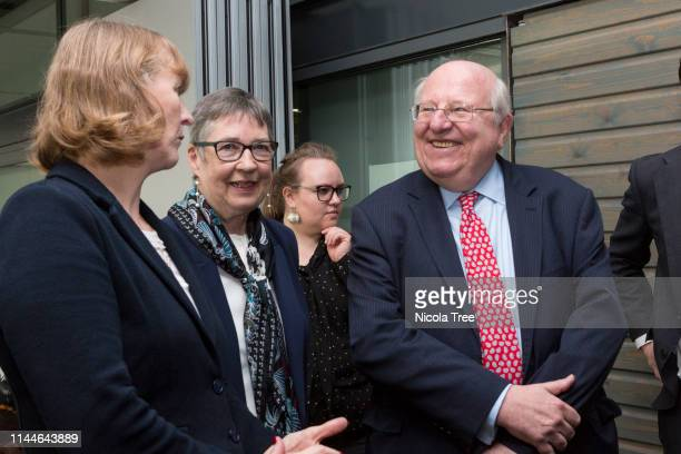 Joan Ryan Ann Coffey and Mike Gapes at the launch of Change UK The Independent group's European election campaign at We The Curious on April 23 2019...