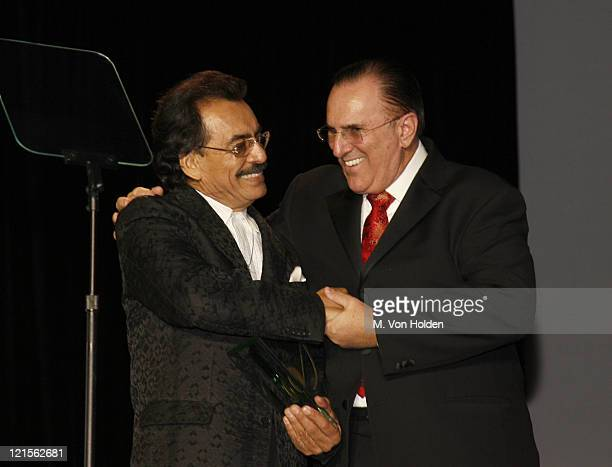 Joan Sebastian and John LoFrumento ASCAP CEO during 15th Annual ASCAP Latin Music Awards Show at Nokia Theatre in New York City New York United States