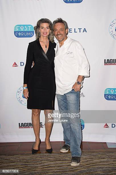 Joan Severance and Gilles Epie attend FestForums at The Fess Parker A Doubletree by Hilton Resort on November 21 2016 in Santa Barbara California
