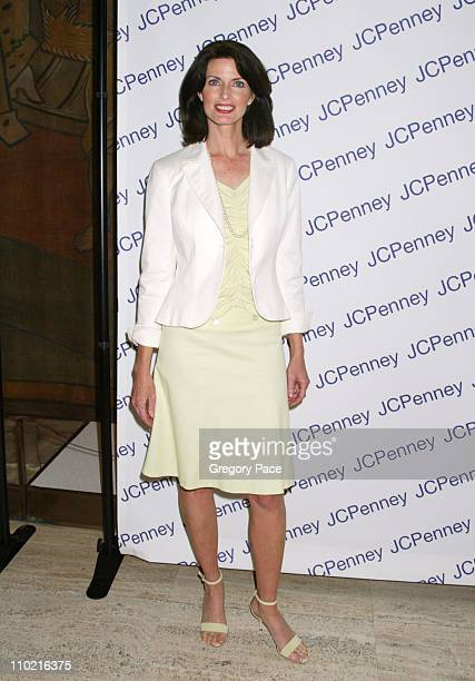 Joan Severance during Nicole by Nicole Miller Fashion Show Presented by JCPenney Arrivals Backstage and Runway at The Four Seasons Restaurant in New...