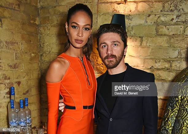 Joan Smalls and David Koma attend The Fashion Awards in partnership with Swarovski nominees' lunch hosted by the British Fashion Council with Grey...