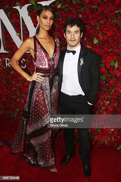 Joan Smalls and Joseph Altuzarra attend 70th Annual Tony Awards Arrivals at Beacon Theatre on June 12 2016 in New York City