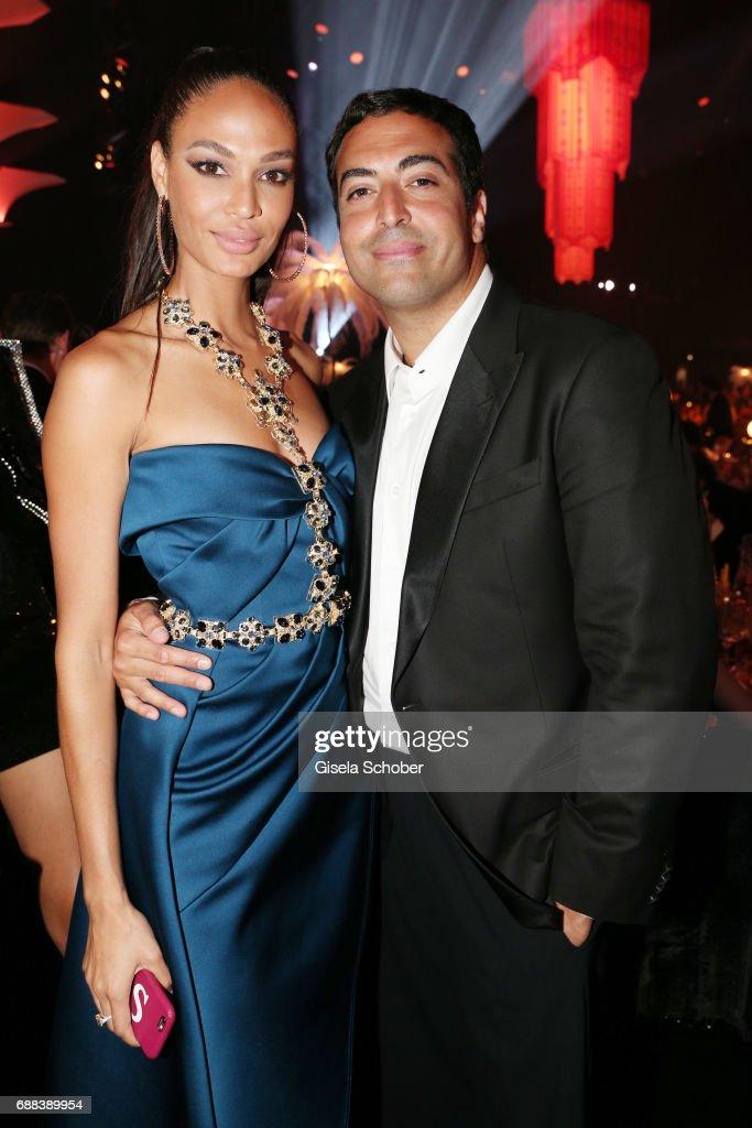 43a811cc163 Joan Smalls and Mohammed Al Turki attend the amfAR Gala Cannes 2017 ...