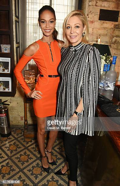 Joan Smalls and Nadja Swarovski attend The Fashion Awards in partnership with Swarovski nominees' lunch hosted by the British Fashion Council with...