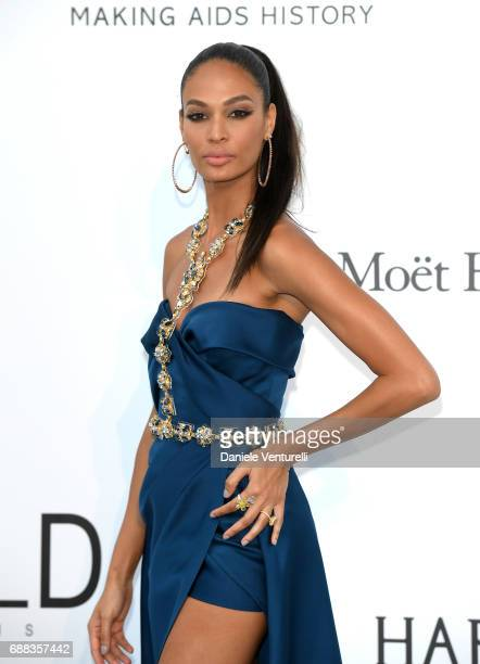 2035ec9e1cf Joan Smalls arrives at the amfAR Gala Cannes 2017 at Hotel du CapEdenRoc on  May 25