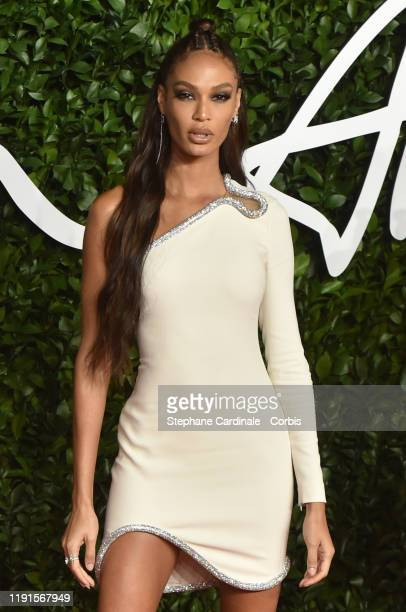 Joan Smalls arrives at The Fashion Awards 2019 held at Royal Albert Hall on December 02, 2019 in London, England.