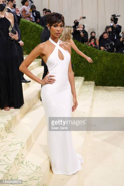 Joan Smalls attends 2021 Costume Institute Benefit - In America: A Lexicon of Fashion at the Metropolitan Museum of Art on September 13, 2021 in New...